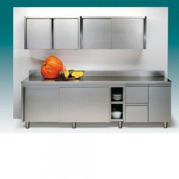 Arredamento inox, carrelli per cucina