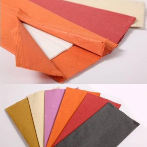 Buste mono portaposate con tovagliolo pz.400 carta paglia color