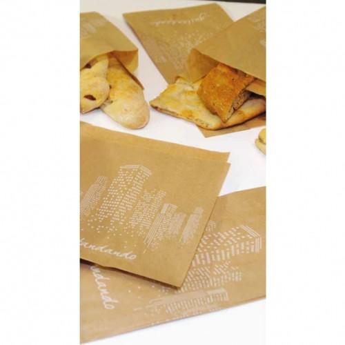 Sacchetti carta cell.antigrasso avana gustandando cm.14x30 pz.1000