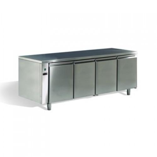 Frigo tavolo inox 4 porte remoto 0 8 - Frigo da tavolo ...
