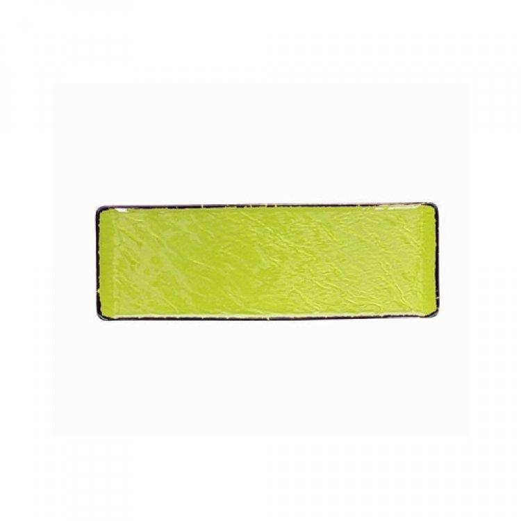 Piatto rettangolare vulcania veggie cm.30x10 verde lime tognana
