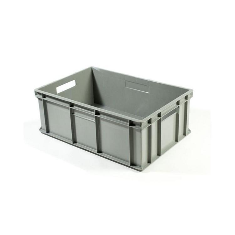 Contenitore plastica europa 60x40x29 grigio e6429