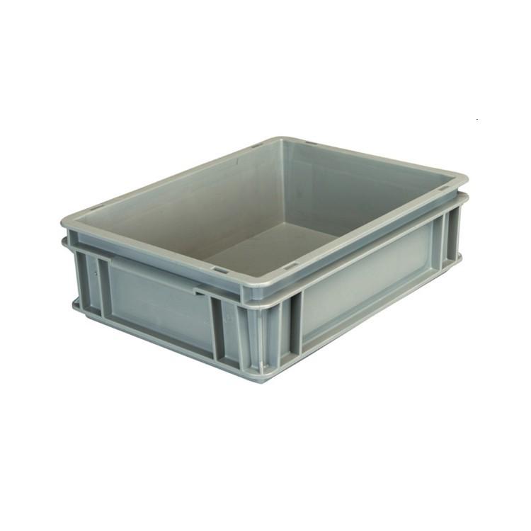 Contenitore plastica europa 40x30x12 grigio e4312 for Vasche plastica per laghetti artificiali