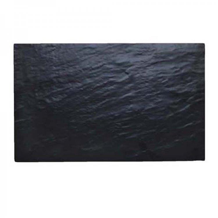 Vassoio melamina nero effetto ardesia gn 1/1 cm.53x32,5