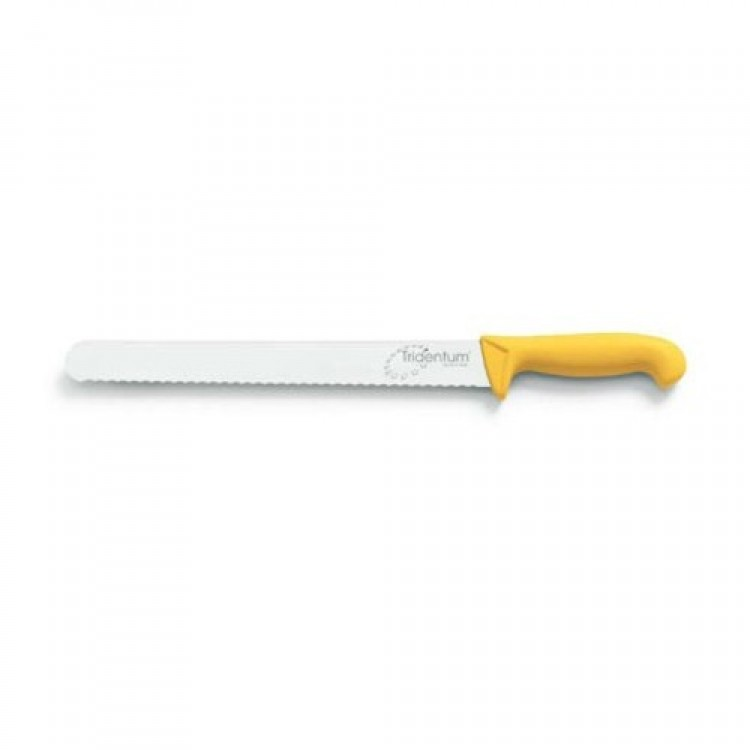 Coltello tridentum pane cm.30 giallo