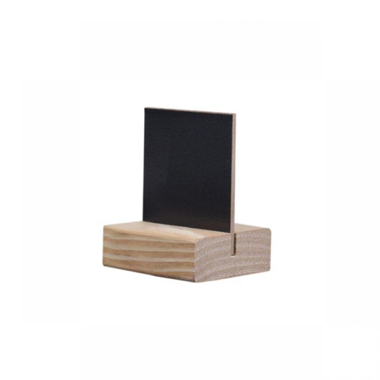 Lavagna nera d4 da tavolo con supporto cm.5,5x6,5
