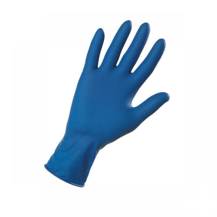 Guanto monouso lattice hi-risk blu tg.l 8-8,5