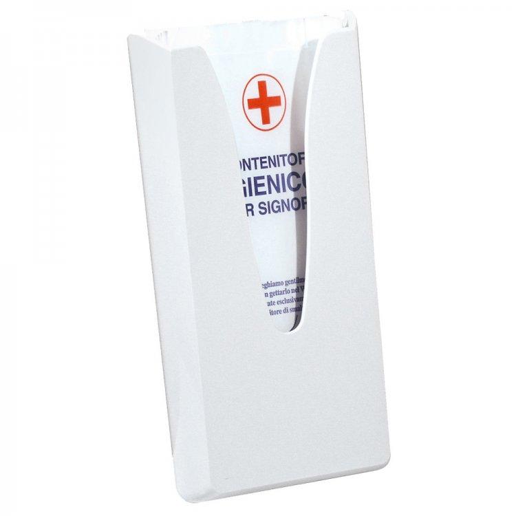 Dispenser sacchetti igienici bianco 13,5x5,5 h.29,5 a/688