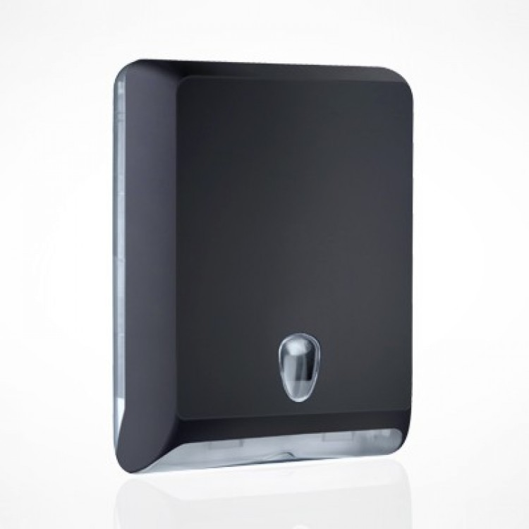 Dispenser asciugamani piegati nero cm.29x13x40 a/830