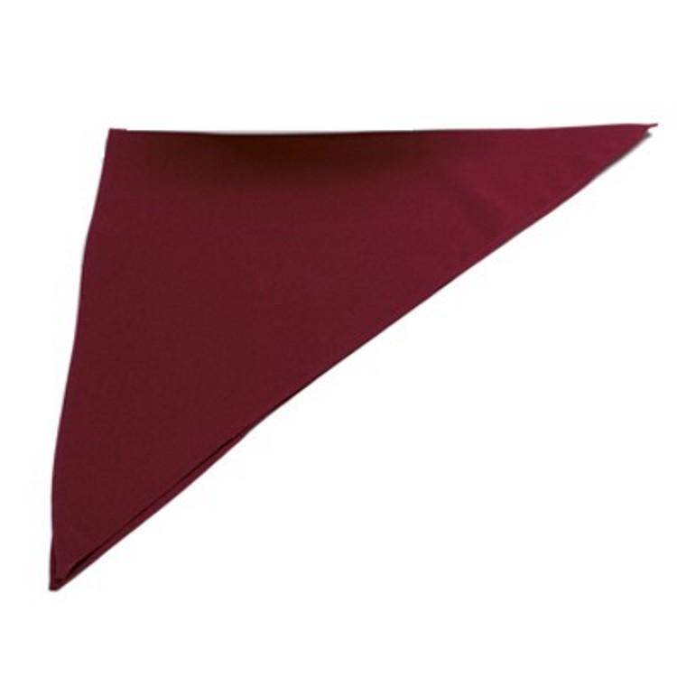 Fazzoletto triangolo cuoco bordeaux ***