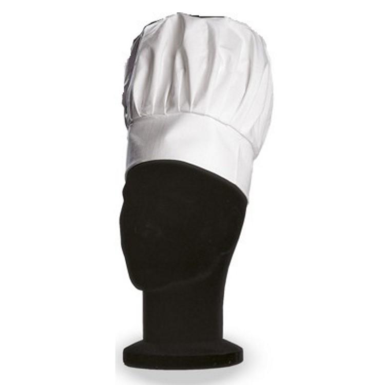 Cappello cuoco bianco regolabile balze