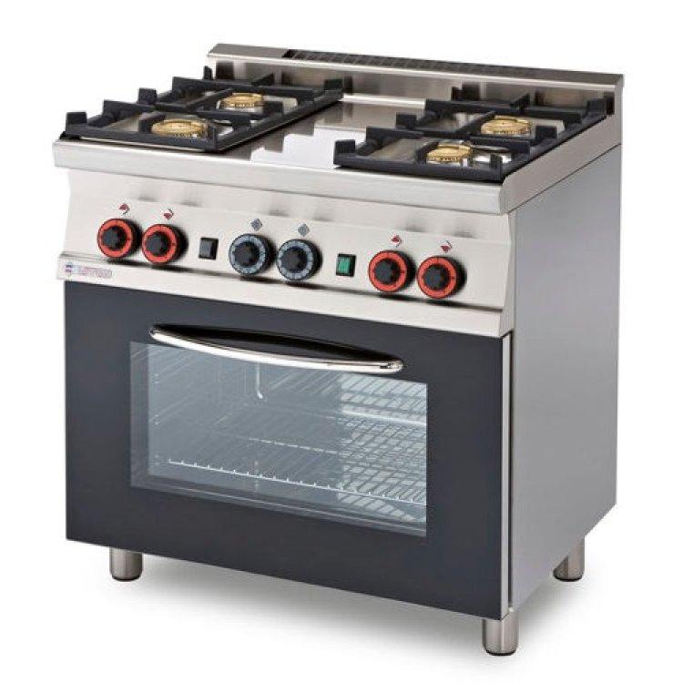 Cucina 60 4 fuochi gas forno elettrico - Cucina con forno a gas ...