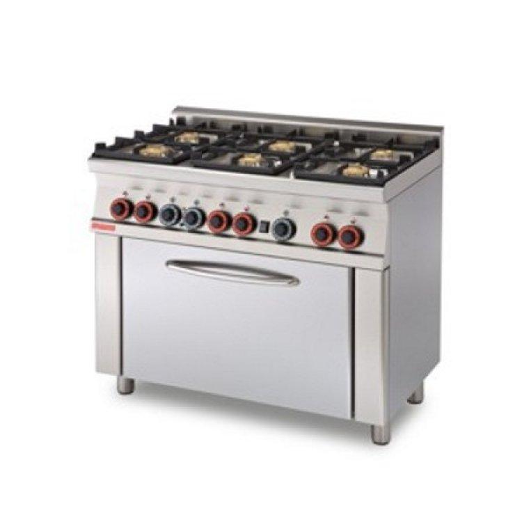 Cucina 60 6 Fuochi Gas Forno Elettrico 100x60x90