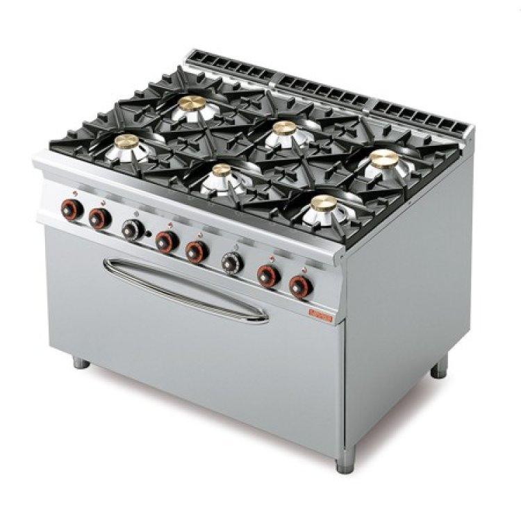 Cucina 90 6 Fuochi Gas Forno 3 1 120x90x90