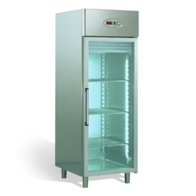 frigo armadio inox 700 lt vetri 18 20 c. Black Bedroom Furniture Sets. Home Design Ideas