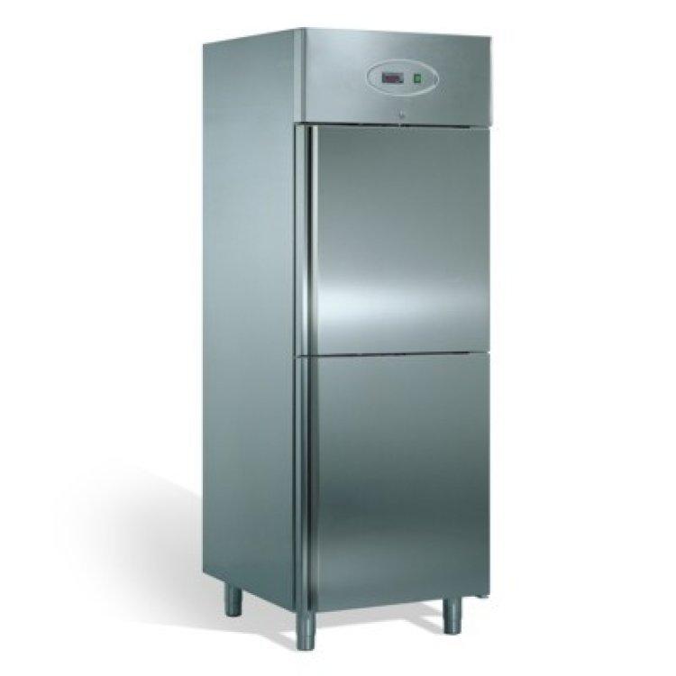frigo armadio inox 700 lt 2 porte 18 20 h210. Black Bedroom Furniture Sets. Home Design Ideas