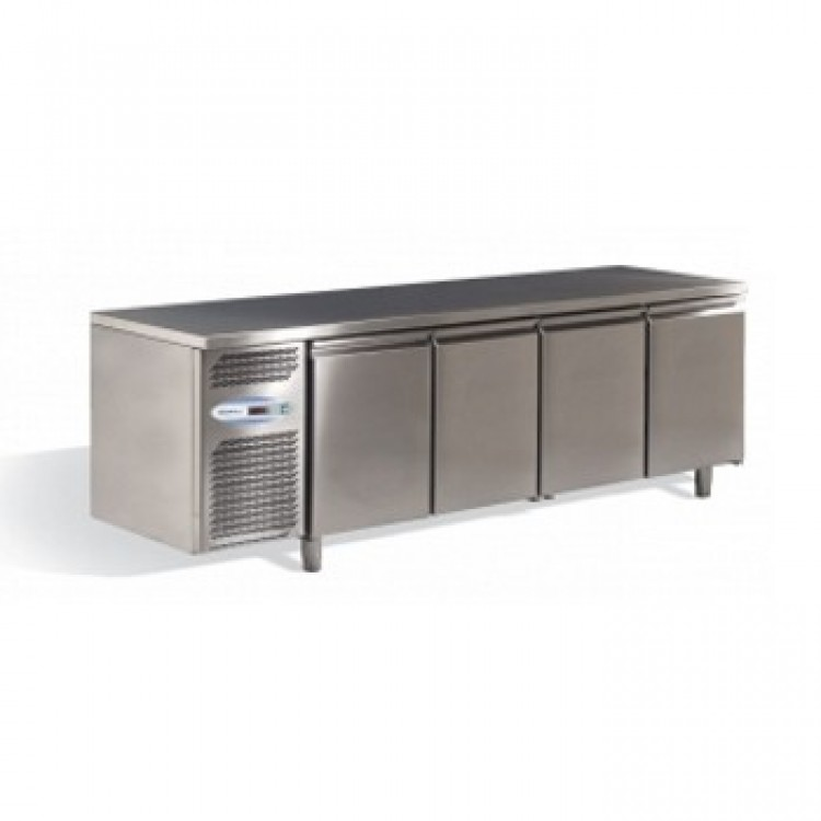 frigo tavolo inox 4 porte 0 8. Black Bedroom Furniture Sets. Home Design Ideas