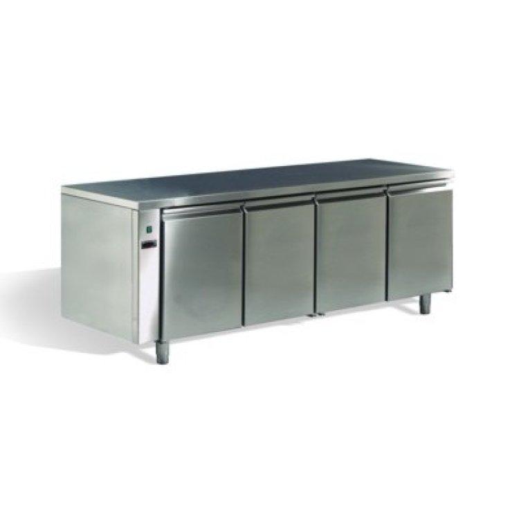Frigo tavolo inox 4 porte remoto 0 8 for Porte 85 cm