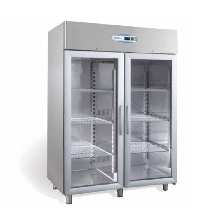 frigo armadio inox 1400 lt vetri 18 20 h210. Black Bedroom Furniture Sets. Home Design Ideas