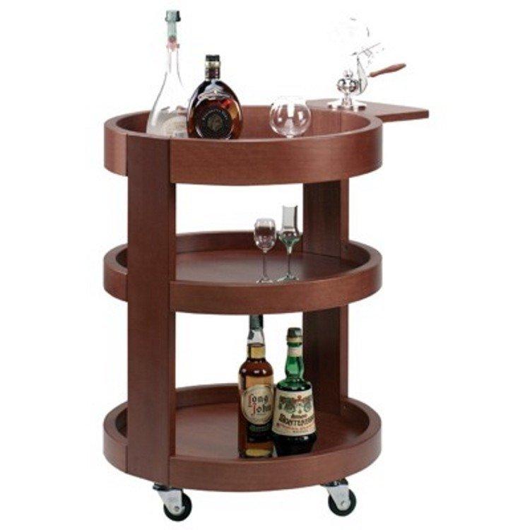 Carrello legno porta liquori rotondo 3 piani for Carrello portalegna da arredamento